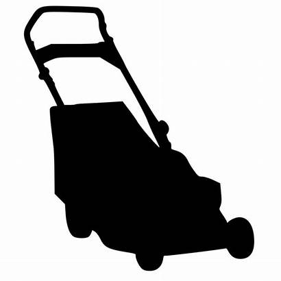 Lawn Mower Silhouette Clip Clipart Lawnmower Mowing