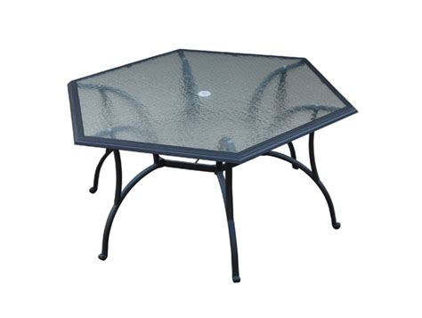 hexagon patio table replacement glass home design ideas