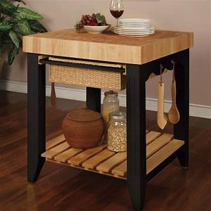 A butcher block table top is perfect for your kitchen