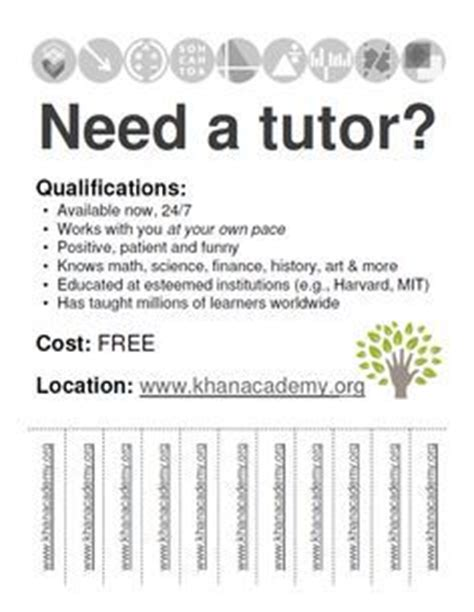 Math Tutoring Flyer  Products I Love  Pinterest Math