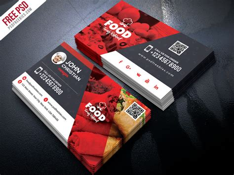 restaurant business card psd  psd freebies  dribbble