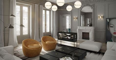 A Stylish Apartment With Classic Design Features : View Gallery