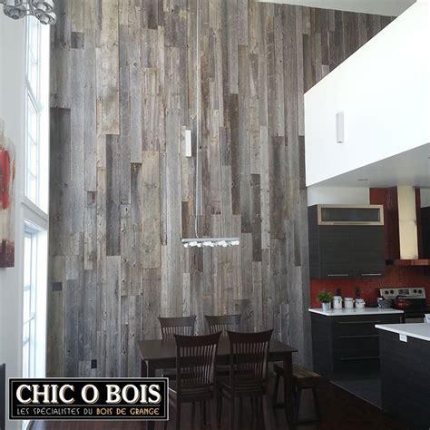 meuble bois cuisine réalisations de mur en bois de grange