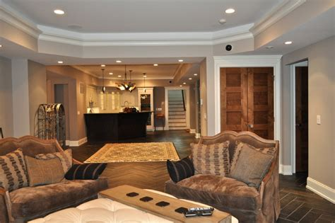 basement living area  workout room traditional