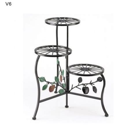 Patio Plant Stands Tiered by Garden Plant Display Cart 2 Tier Patio Stand Deck