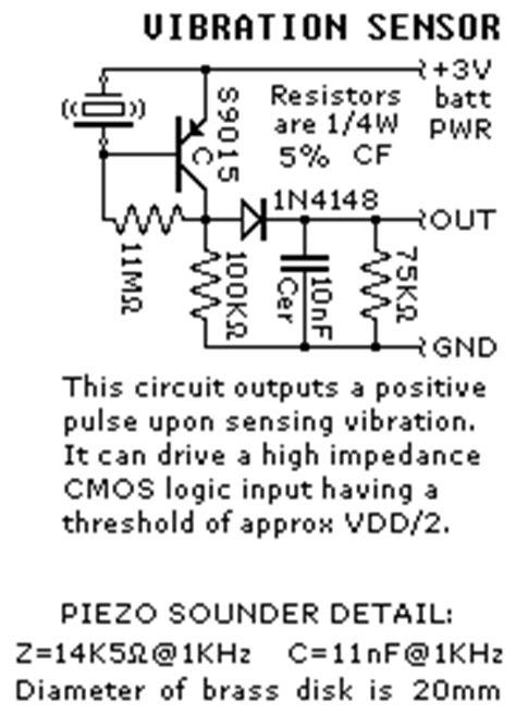 Electronics Projects Vibration Sensors Circuit Diagram