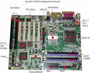 Computer Motherboard Labeled Atx Motherboard Diagram