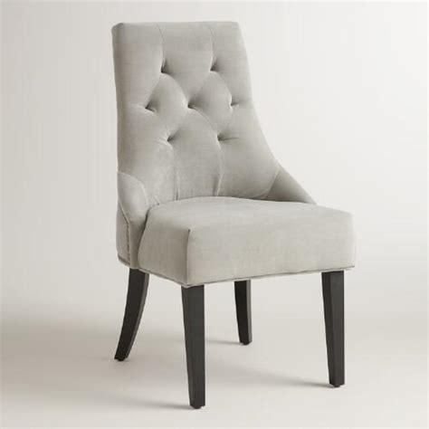 dove gray tufted lydia dining chairs set of 2 world market