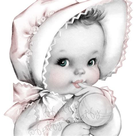 vintage baby girl graphics