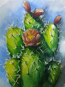paint +desert+ flowering+cactus | Share | picss to paint ...