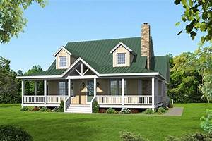 Country, Style, House, Plan, Ft