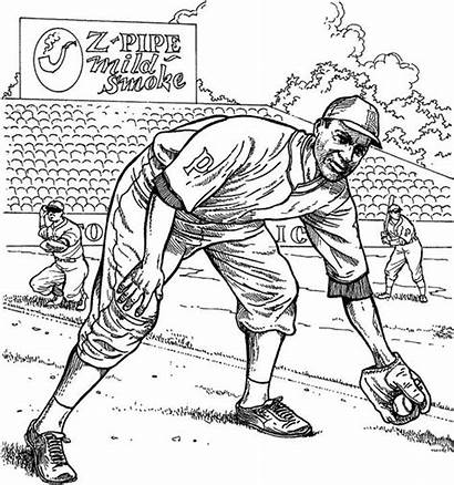 Coloring Baseball Pages Pittsburgh Pirate Clemente Roberto