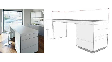 hauteur plan de travail cuisine ikea dimension ilot central cuisine en image