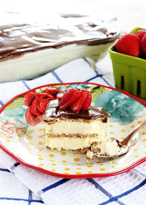 chocolate eclair cake recipe cool creamy  easy