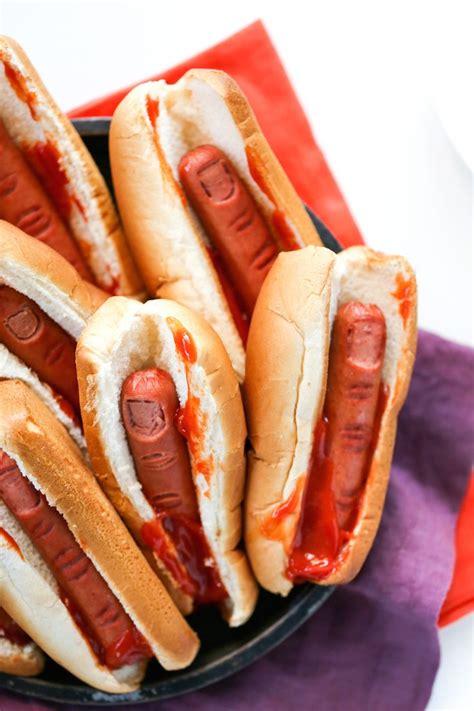 bloody finger hot dogs  halloween recipe halloween