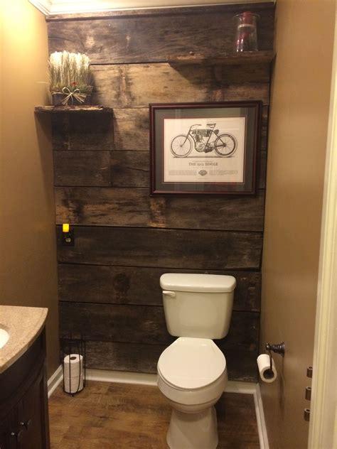 powder room renovation  barn wood rustic bathrooms