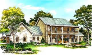 double deck porches front   hc architectural designs house plans