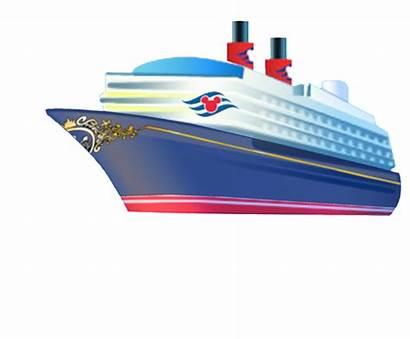 Cruise Ship Clip Clipart Carnival Transparent Disney