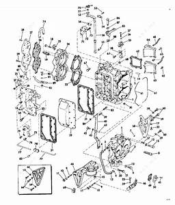 Evinrude 1973 40 - 40354d  Cylinder  U0026 Crankcase