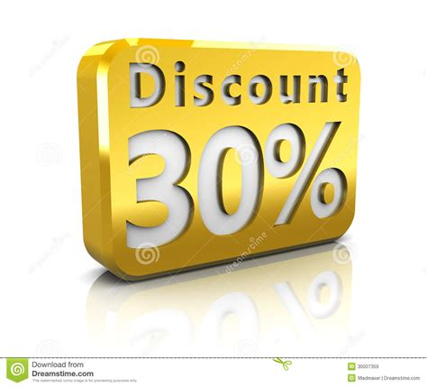 Thirty Percent Discount Royalty Free Stock Images - Image ...