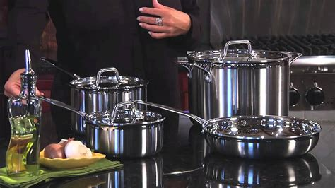 cuisinart multiclad pro stainless steel signature cookware set mcp  youtube