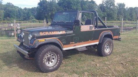 amc jeep scrambler sell used amc 1982 jeep cj 8 scrambler 304 v8 t5 5 speed