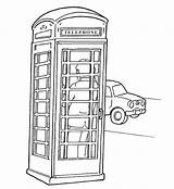 Pages Coloring London English Colouring Bus Phone Ben Outline Telephone Booth Landmarks England Drawings Adult Respect Union Crafts Country Phones sketch template