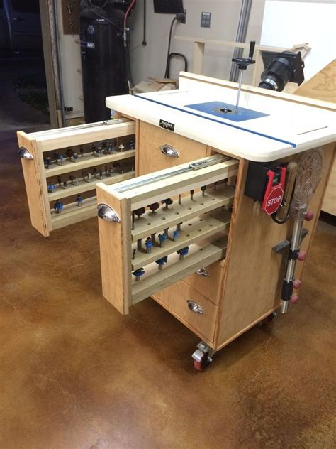 router table    router bit storage