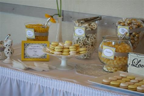 yellow  white candy buffet weddingbee photo gallery