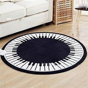 Schwarz Weißer Teppich : weiche rund piano key schwarz wei teppich wohnzimmer teppich floh im ohr pinterest ~ Orissabook.com Haus und Dekorationen