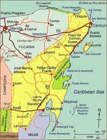 Cozumel Map Quintana Roo Mexico