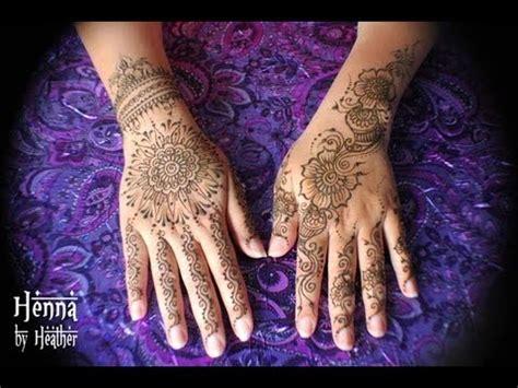 henna tattoo mandala   hand youtube