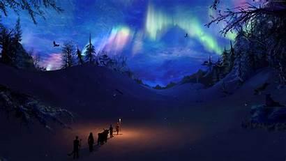 Skyrim Polar Lights Polarlights Usseek Wallpapers Wallpapershome