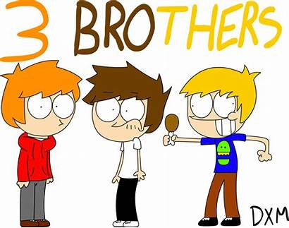 Brothers Clipart Cartoon Three Fanart Deviantart Transparent