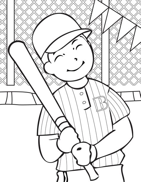 printable baseball coloring pages  kids