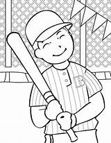 Coloring Pages Baseball Printable sketch template