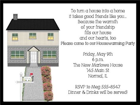 interesting housewarming party invitation wording house