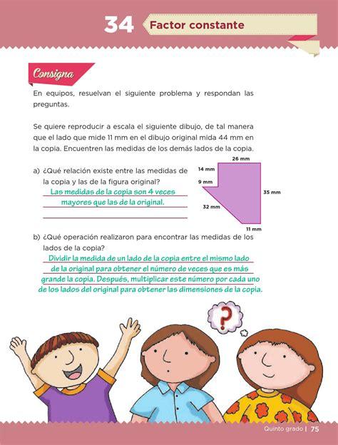 el resultado libro de matematicas de quinto grado