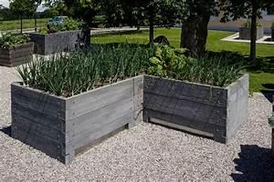 Betonplatten Verlegen Auf Erde : hochbeete aus beton frische ideen f r ihren garten ~ Whattoseeinmadrid.com Haus und Dekorationen