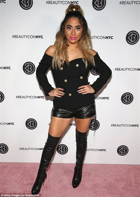 Ally Brooke Hits Beautycon Red Carpet Tiny Leather