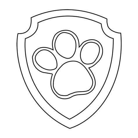 Kleurplaat Paw Patrol Logo by Leuk Voor Badge