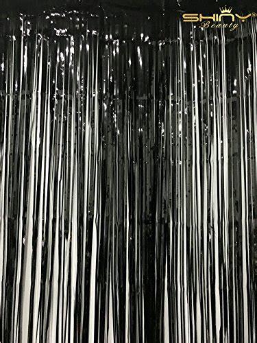 ftxft black foil fringe curtain  arrival wedding