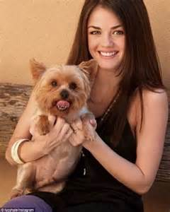 lucy hale  stop gushing    precious puppy