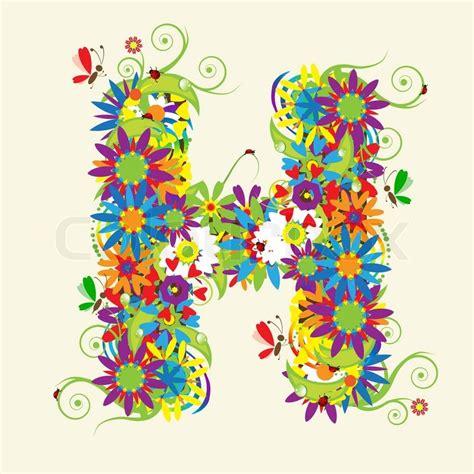 letter d floral design stock vector 169 kudryashka 3233753 letter h floral design see also letters in my gallery 40767