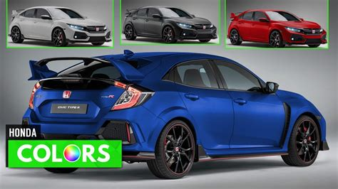 honda civic colors 2018 honda civic type r colors