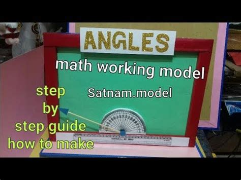 types  angles model  school project working maths
