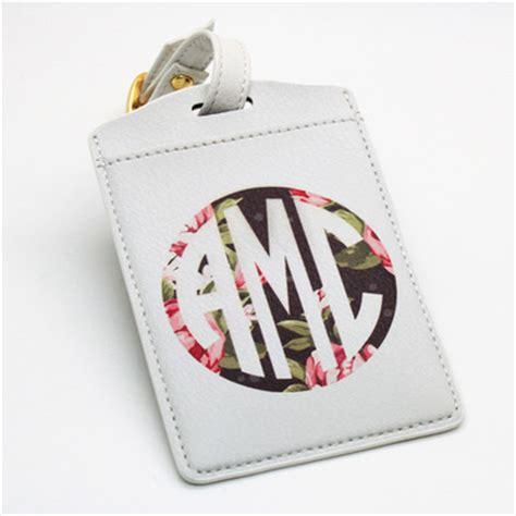 monogrammed personalised pu leather luggage tag office tag travel tag school bag tag diy