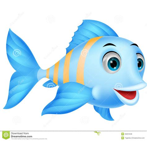 Cute Fish Cartoon Stock Vector Illustration Of Character
