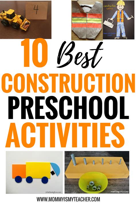 construction themed activities for preschoolers 10 on preschool construction activities is 506