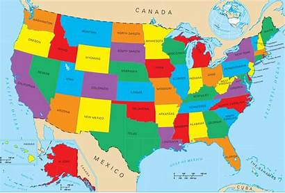 States United Map America State Geography Fifty